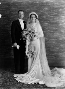 1940s silk (rayon) wedding gown