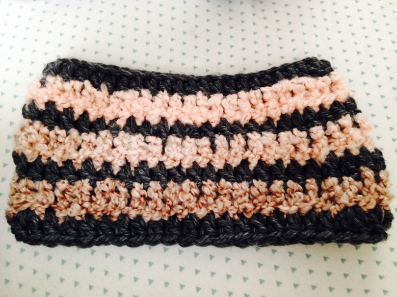 striped crochet cowl scarf pattern